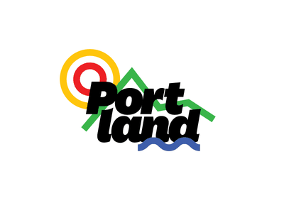 Portland! water mountains sun stroke national illustration typography oregon pdx portland
