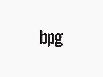 BPG wordmark logo typography trade gothic black and white branding portland owen jones