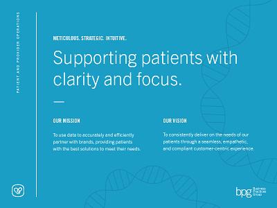 Patient & Provider Operations II wordmark layout logo typography trade gothic branding portland owen jones