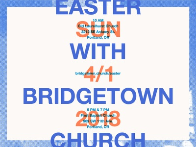 Easter With Bridgetown Church layout halftone easter portland bridgetown church church