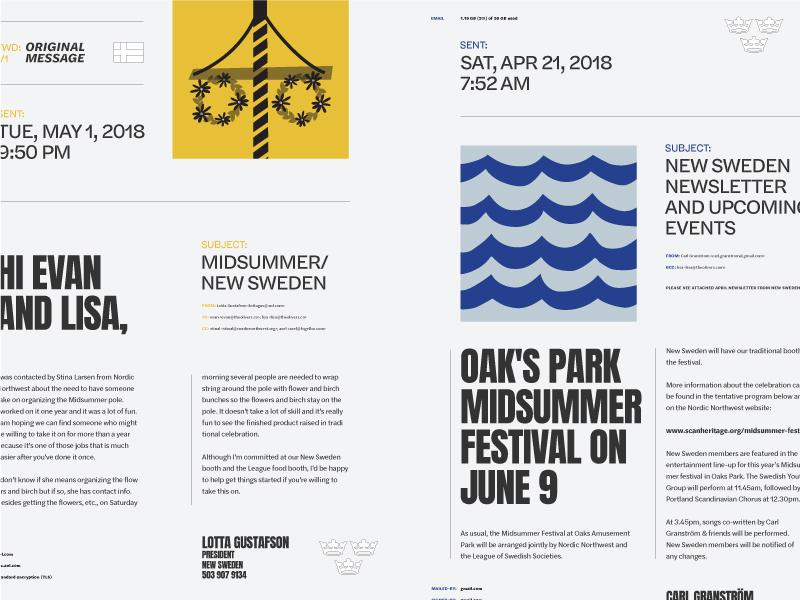 Emails solstice midsummer swedish summer sverige midsommar emails layout typography type