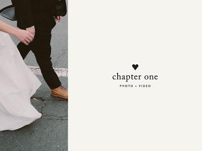 🖤Chapter One typography lockup sofia caslon story heart logo video photo wedding branding