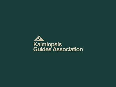 Kalmiopsis I outdoors helvetica mountain oregon icon logo branding