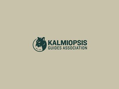 Kalmiopsis II typography cat branding mountain lion outdoors oregon kalmiopsis lockup icon logo