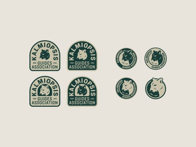 Kalmiopsis III lockup oregon outdoors kalmiopsis mountain lion patch badge typography logo branding