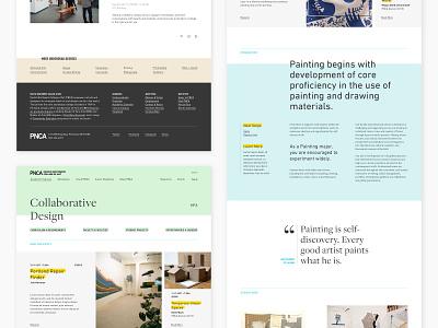 Pacific Northwest College of Art branding website design website college school art portland oregon design typography layout ux ui