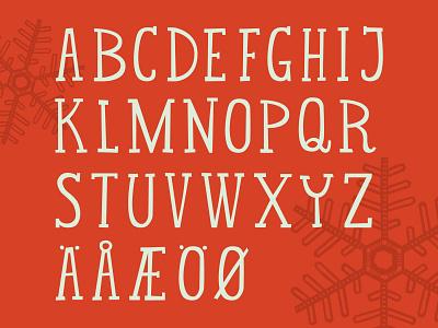 ScanFair Alphabet scandinavian holiday heritage hand lettering type nordic portland christmas alphabet typography