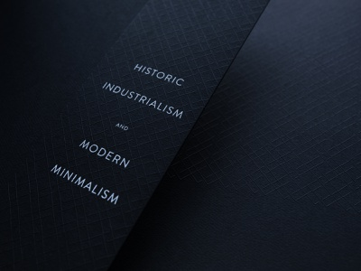 The Madison brand extension emboss foil black and white layout typography branding