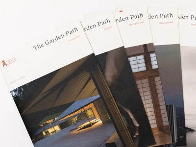 The Garden Path 2018 pt. I indesign layout magazine portland japanese japan editorial typography