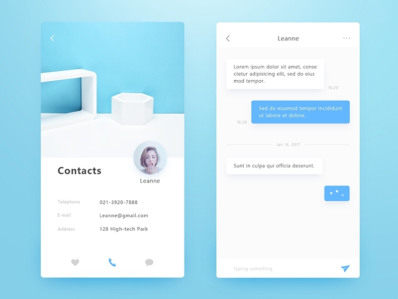 Rental Application Interface - Contacts