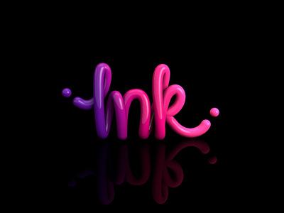 Ink design cinema 4d c4d lettering3d inkblot
