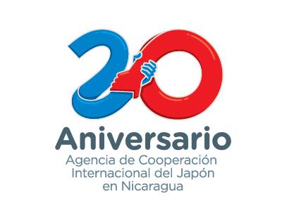 Logo Aniversario Cooperación Japonesa en Nicaragua