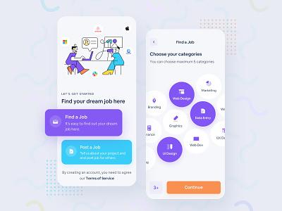 Job Portal Platform Application 2020 business interface web app webdesign concept pattern mobile app card ui typogaphy minimal inspiration illustraion app design job finder job sketch design app