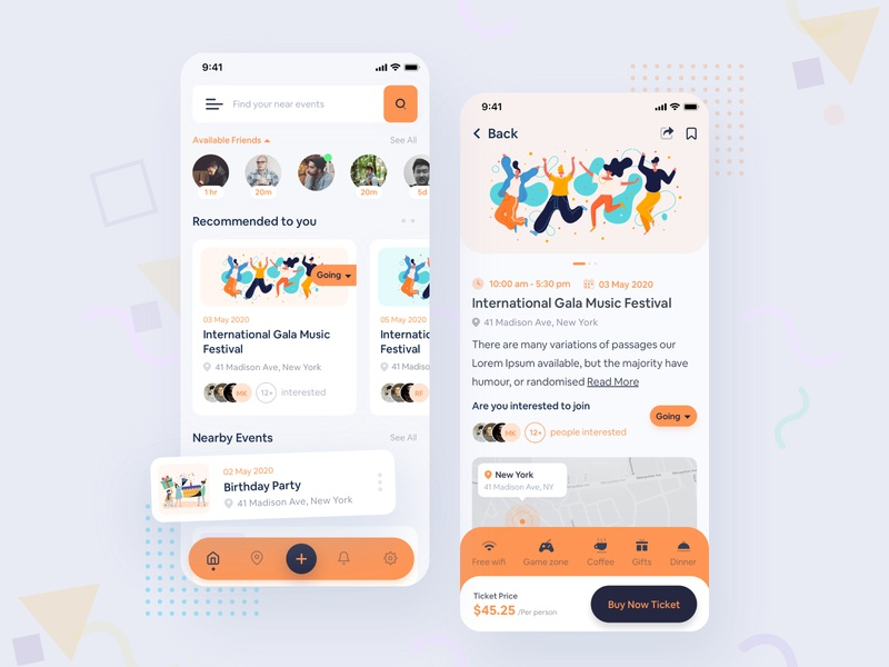 Event App branding creative interaction events trend app userinterface ui tracking app mobile app design mobile app app design app event management event find conference event app event