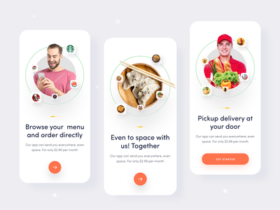 Food Delivery UI Kit- Onboarding onboarding screen trendy design mobile design mobile app uiux interaction user experience app ux mockup landing page branding design restaurant app ui design food app ui kit food delivery food app food delivery app ui kit design ui kits