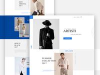 """""""Artisti"""" - E-Commerce Template Concept."""