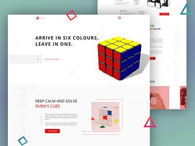 Rubik's Cube Landing Page cool design mockup landing page webdesign creative rubiks cube ux ui
