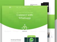 Whatsapp  App landing Page