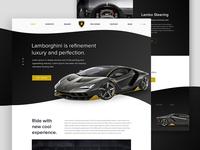 Lamborghini Landing Page