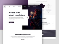 Motivational Web Landing Page