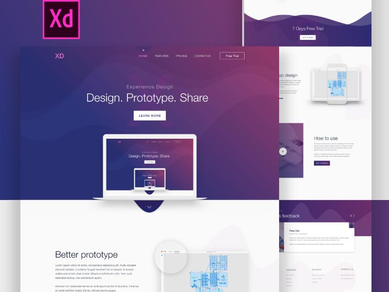 Adobe XD Landing Page