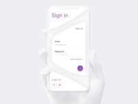 Sign in & Sign up - Daily UI #03