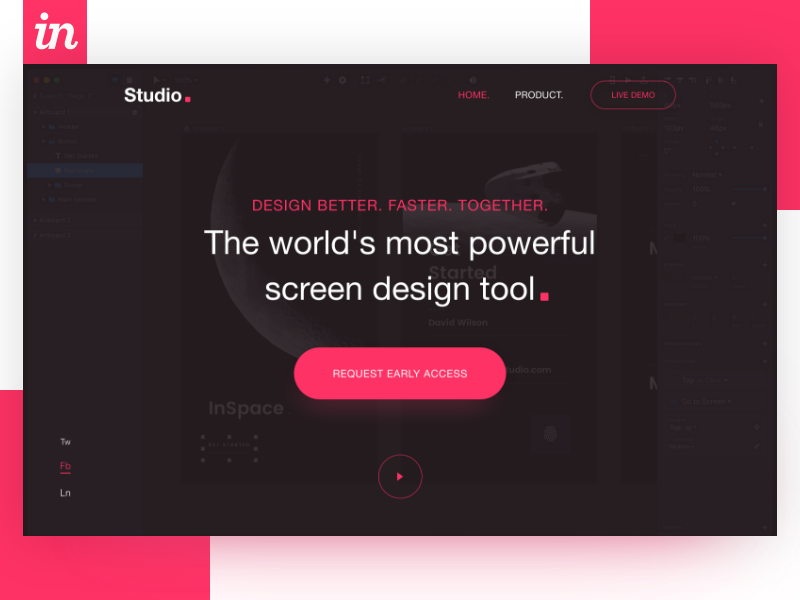 Invision Studio-Tools Experiment