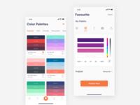 Color Palettes | iOS App Concept