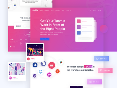Dribbble Team Page Redesign header business creative agency new year interface design card agency inspiration trendy design dribbble best shot design landing page webdesign mockup creative prelook studio prelook dribbble redesign 2019