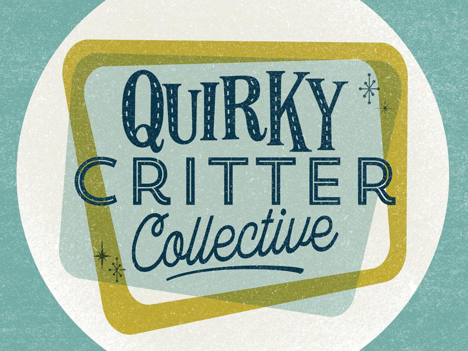 Quirky Critter Collective Logo retro vector branding logo design
