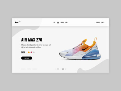 Nike Shoe Web Design