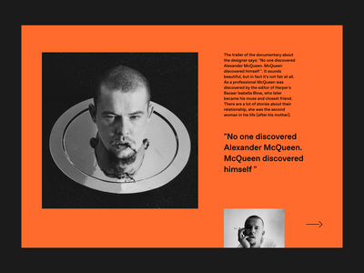 Memory Alexander McQueen desktop webdesign clean model typogaphy prototype ui ux fashion interaction interface animation web design web website