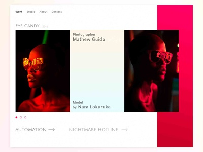 Concept Website Mathew Guido model website gradient foto concept uiux ui