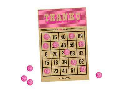 Hello Dribbble! hello bingo thanks illustration design debut
