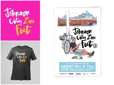 JCZF Identity tennessee illustration tshirt poster logo identity festival zine