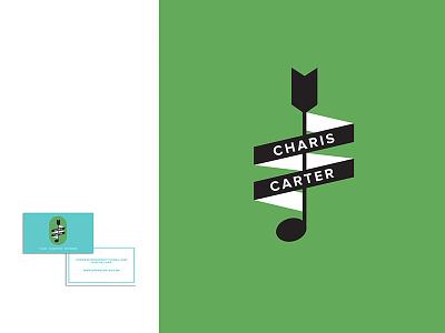 Charis Carter band illustration note music card business logo branding musician