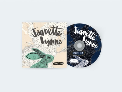 Jeanette Lynne Album Artwork artwork packaging drawing foot rabbits map rabbit illustration design album