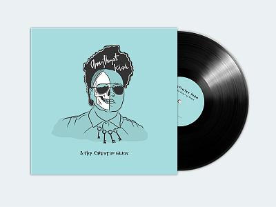 Amythyst Kiah & Her Chest of Glass EP vinyl keys musician portrait skull illustration layout design album