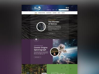 Bays Mountain Website net360 planetarium park tennessee desktop web website
