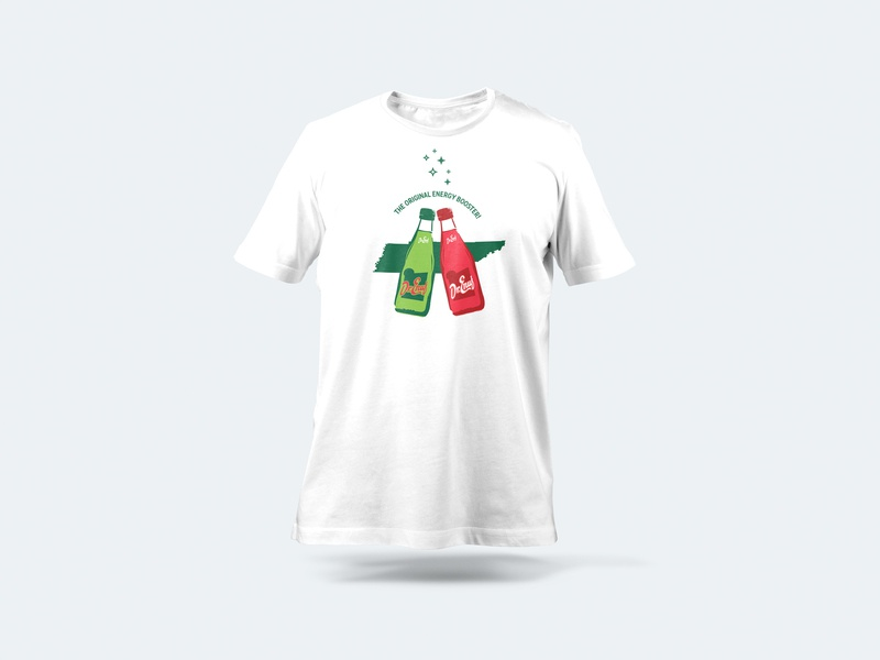 Dr Enuf T-Shirt Design drink bottles cheers drenuf design merch goods soda tshirt tennessee illustration
