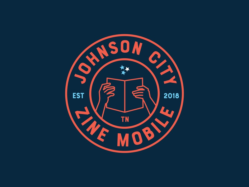 Johnson City Zine Mobile Logo branding badge diy zines illustration tennessee logo mobile zine jctn