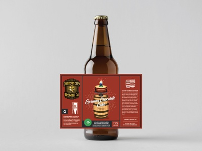 Johnson City Brewing Co. Label - German Chocolate Cake porter gnome illustration label tennessee beer bottle cake chocolate german beer label design beer label beer branding beer