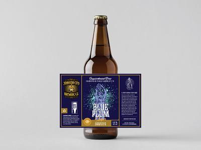 Johnson City Brewing Co. Label - Blue Plum Lager beer art beer label brew lager label tennessee illustration beer label design beer branding beer bottle beer