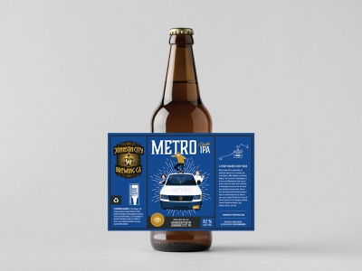 Johnson City Brewing Co. Label - Metro tennessee illustration beer branding metro beer bottle label beer label beer label design beer