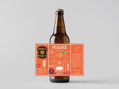 Johnson City Brewing Co. Label - Peaches brewing labeldesign craftbeer tn tennessee peaches label illustration beer branding beer label design beer label beer bottle beer