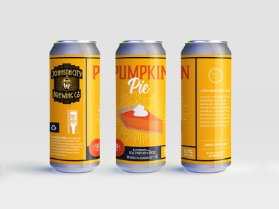Johnson City Brewing Co. Label - Pumpkin Pie label beer branding design branding pumpkin pie pumpkin tn tennessee illustration craftbeer brewing beer label design beer labels beer label beer can beer