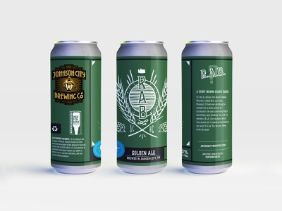 Johnson City Brewing Co Label - RAB ale labeldesign brewing craftbeer beer tn branding label beer label design beer label beer branding design tennessee illustration