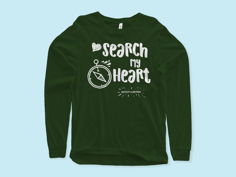 Search my Heart 2 lifeteen retreat design illustration