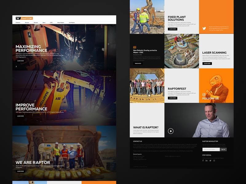 Raptor Mining engineering business mining webdesign web
