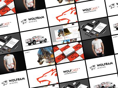 Brand System for Wolfram Mining brand identity visual design identity branding